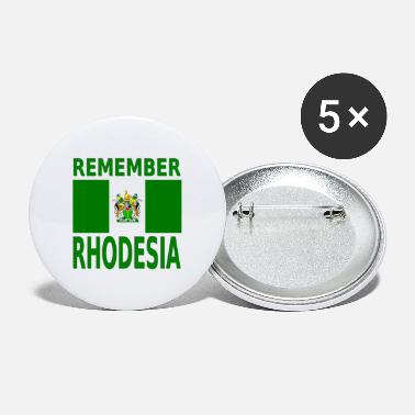 Mugabe Remember Rhodesia, with Flag - green and white - Large Buttons