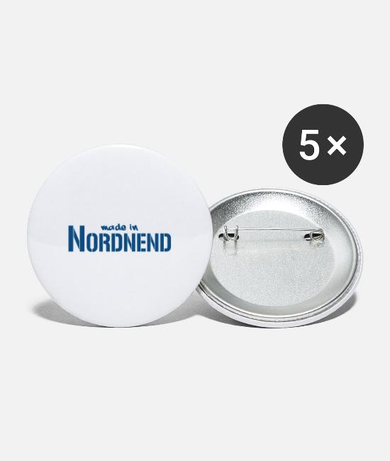 Hipster Buttons & Pins - Nordnend Frankfurt - Large Buttons white