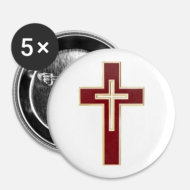 Red Cross Red Christian cross - Large Buttons