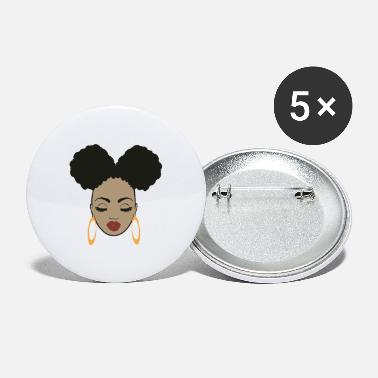 Afro Afro Girl - Large Buttons