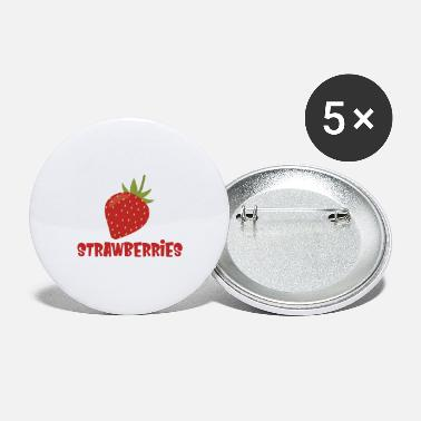Strawberry Strawberries - Large Buttons