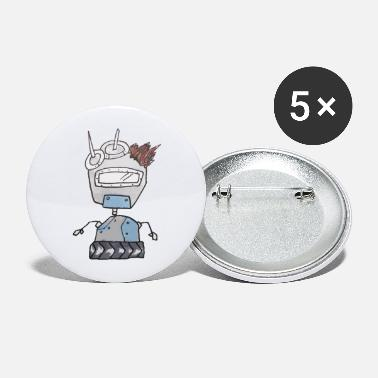 Grey Grey robot - Large Buttons