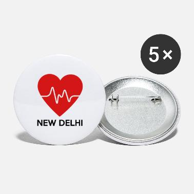 New Delhi Heart New Delhi - Large Buttons