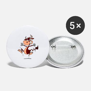 Cow Cow Cow Cartoon - Large Buttons