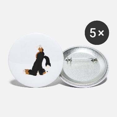 Merrily Bernese Mountain Dog Yoga Exercise Dog Funny - Large Buttons