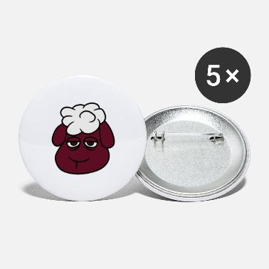 head face tired bored sad funny small cute comic c - Large Buttons