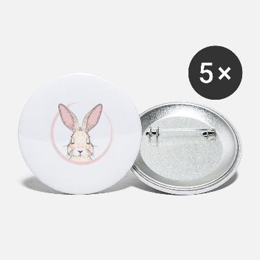 Trend sleeping rabbit in pink frame - Large Buttons