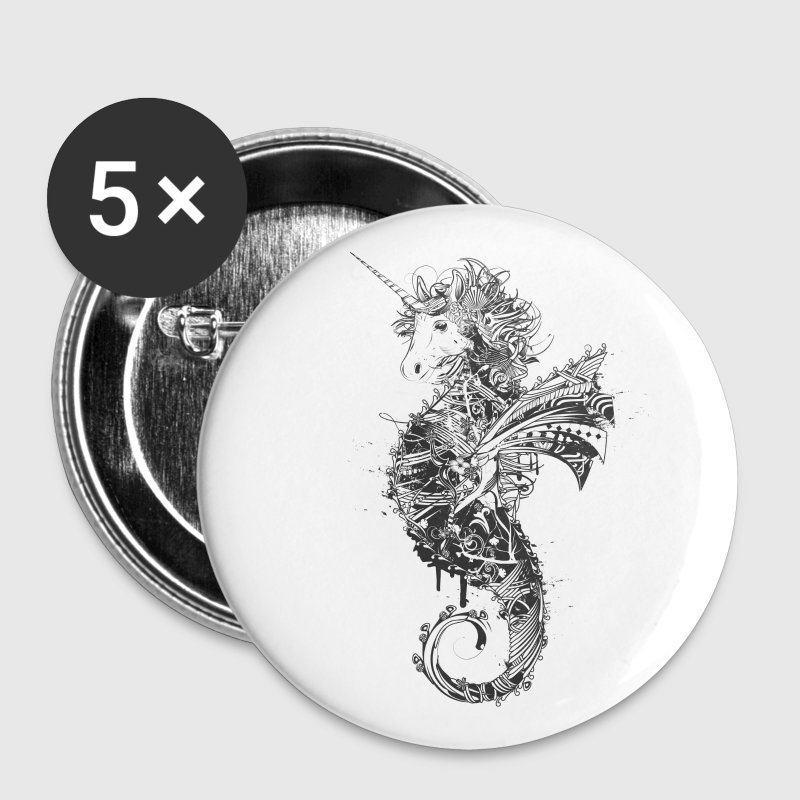 Unicorn seahorse - Large Buttons