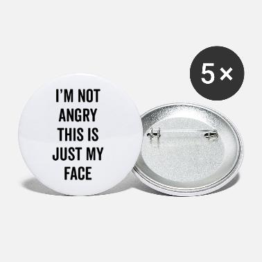 Angry Angry Face Funny Quote - Large Buttons