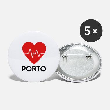 Porto Heart Porto - Large Buttons