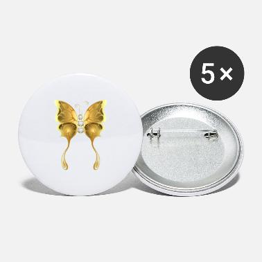 Jevels Gold jewelry jevel butterfly insect vector fun fun - Large Buttons