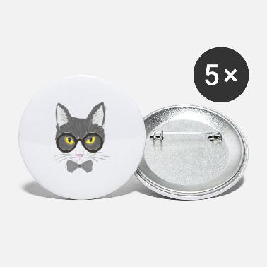 Catstagram Hipster cat - Large Buttons