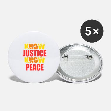 Social Justice Social Justice No Justice No Peace tee design - Large Buttons