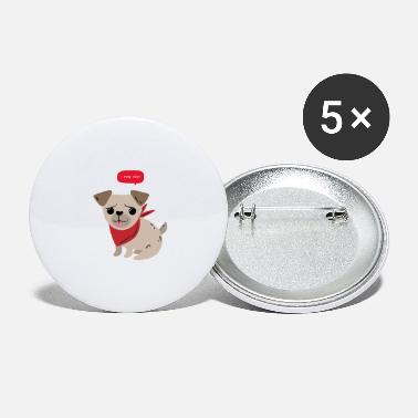 Cute pug pun - Large Buttons