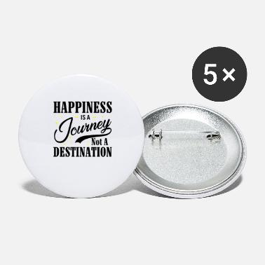 Happiness Happiness Is A Journey Not A Destination bw - Large Buttons