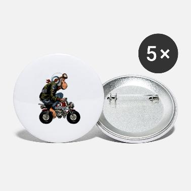 Monkey Bike Cartoon - Large Buttons