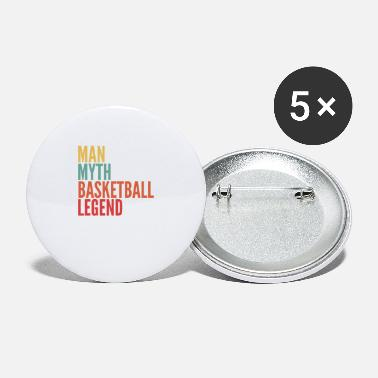 Feeling Basketball Gift, Man Myth Basketball Legend - Large Buttons