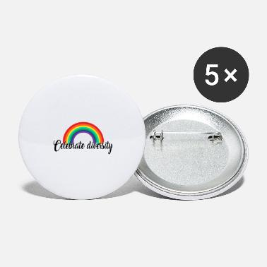 Gay Pride Celebrate diversity. Rainbow Gay Design - Large Buttons