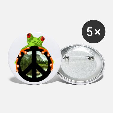Tree peace frog - Large Buttons