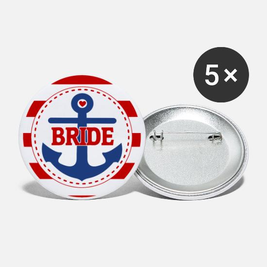 Bride Buttons - brides_ahoi - Large Buttons white