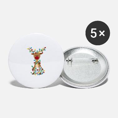 Adorable Reindeer Adorable Reindeer-Christmas-Reindeer-Adorable - Large Buttons