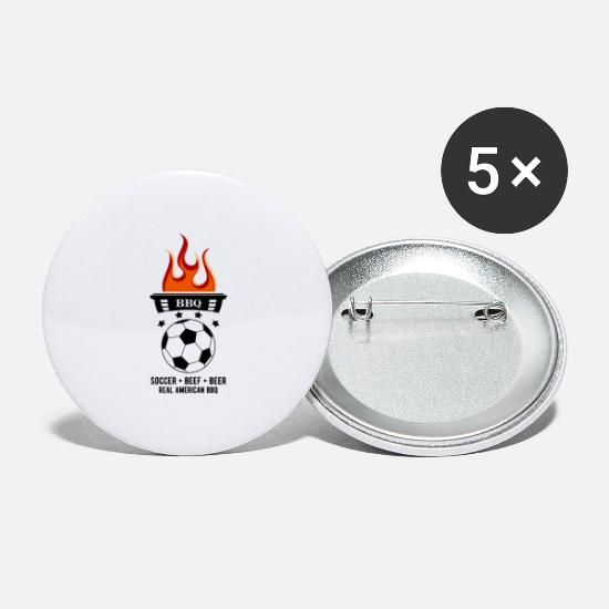 Soccer Buttons - SOCCER BEEF BEER - Large Buttons white