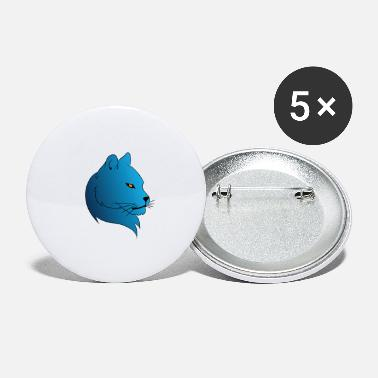 Blue Cat - Large Buttons