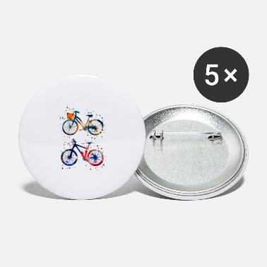 Bicycle Bicycles, watercolor bicycles - Large Buttons