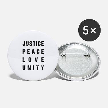 Unity Justice Peace Love Unity - Large Buttons
