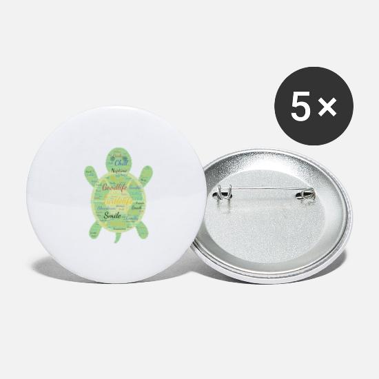 Vibe Buttons - Goodlife Turtlelife - Large Buttons white