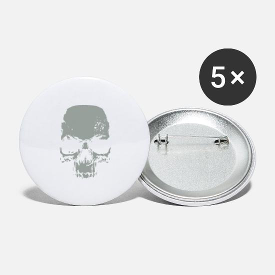 Symbol  Buttons - Skull - Large Buttons white