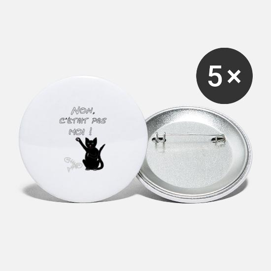 Chat Buttons - Chat, Mais non c'est pas moi - Large Buttons white