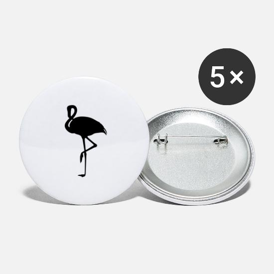 Flamingo Buttons - flamingo - Large Buttons white