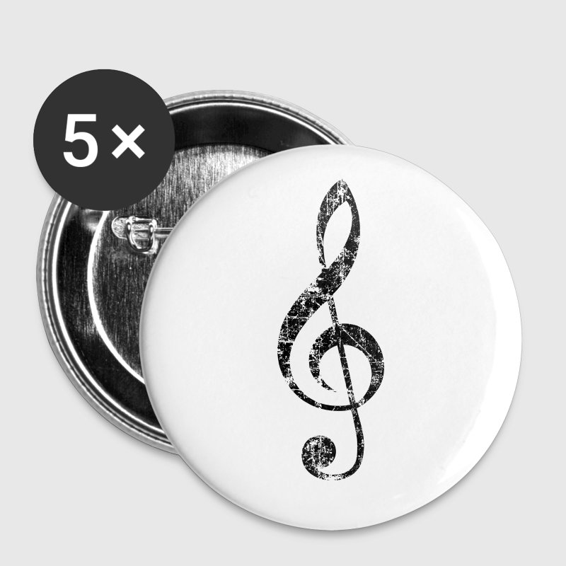 G-Clef, Treble Clef Vintage Black - Large Buttons