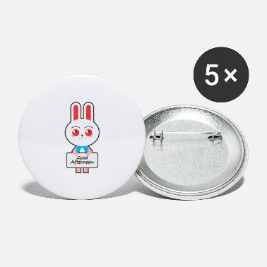 Greeting greeting rabbits - Large Buttons
