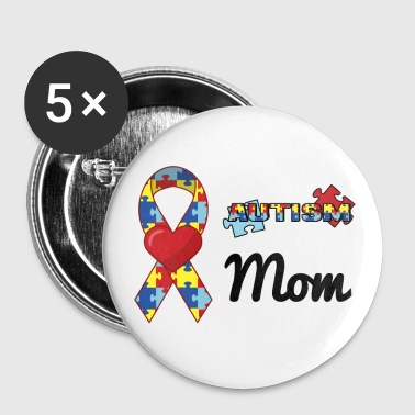 Autism Mom - Large Buttons