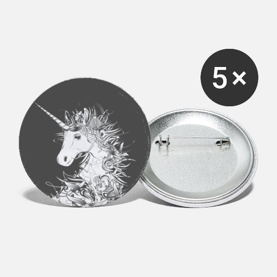 Mythical Buttons - Head of a unicorn - Large Buttons white