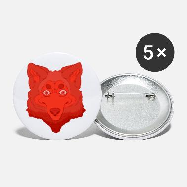 Red Werewolf - Large Buttons