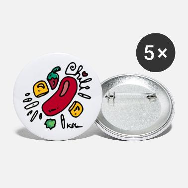 Heart Chili - Large Buttons