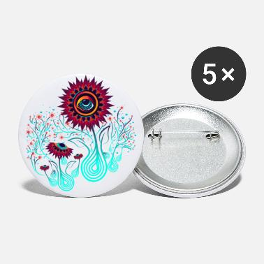 Abstract sunflowers - Large Buttons