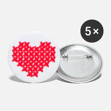 Cross Cross-stitch Heart - Large Buttons