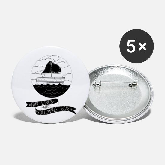 Skies Buttons - Fair winds and following seas - Large Buttons white