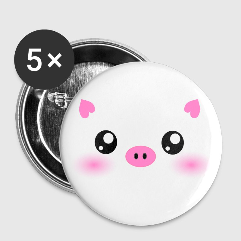 Cute Kawaii Pig face - Large Buttons