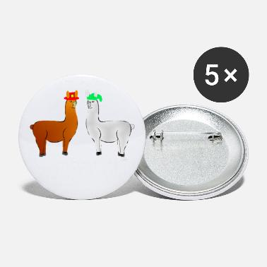 Hatch funny llama with hats lama with hat carl what did - Large Buttons