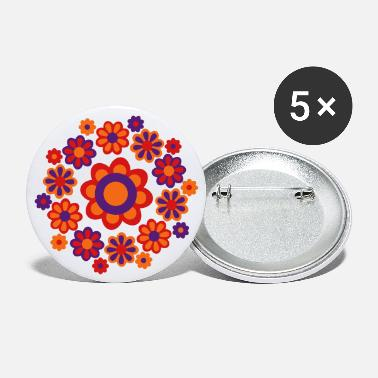 Cheerful Madness Floral Mandala by Cheerful Madness!! - Large Buttons