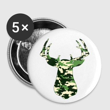 BUCK IN GREEN CAMO - VECTOR GRAPHIC - Large Buttons