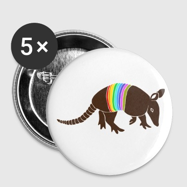 armadillo texas turkey hillbilly rainbow - Large Buttons