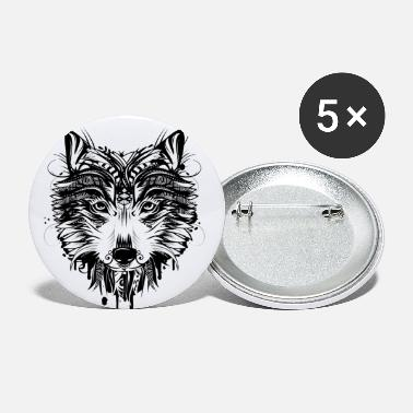 Wolf head - Large Buttons