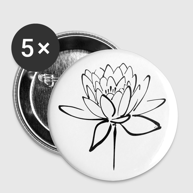 Black Lotus Calligraphy - Large Buttons