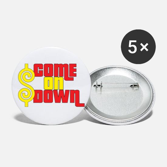 The Price Is Right Buttons - Come On Down - Large Buttons white
